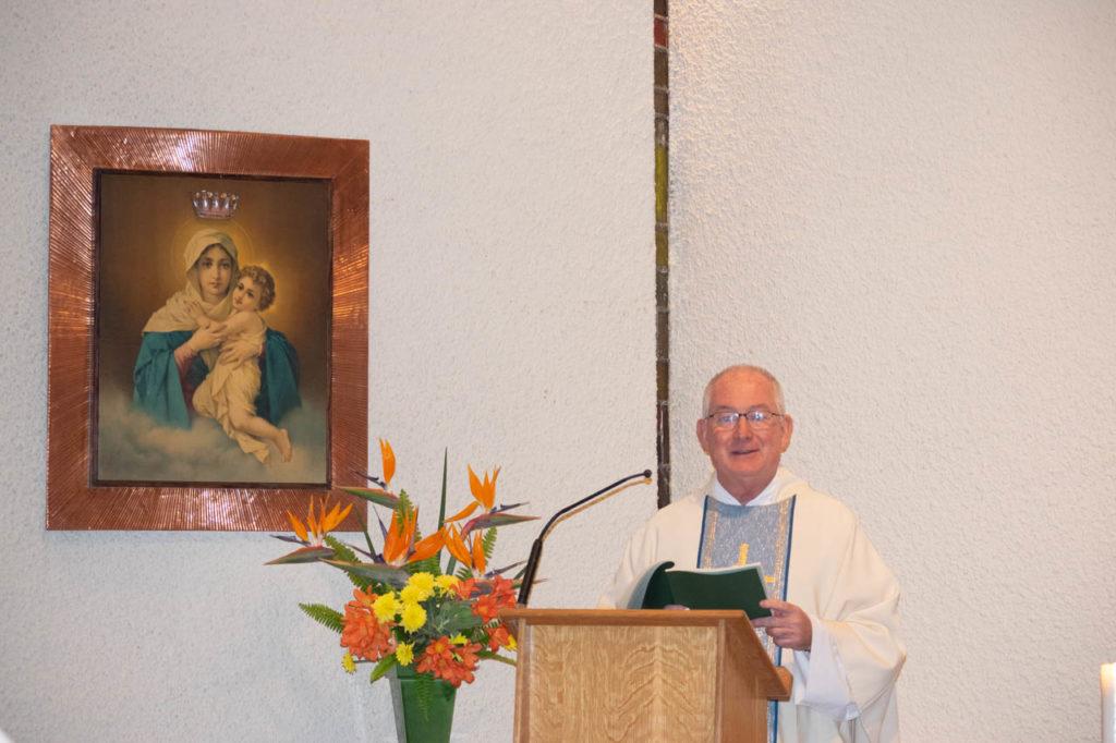 Fr. Michael giving the sermon